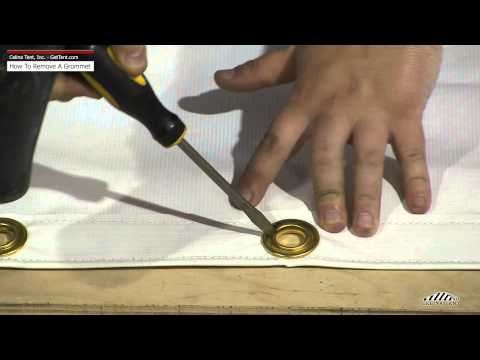 How to remove a grommet from fabric