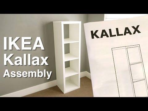 Ikea KALLAX shelf assembly -Step by step