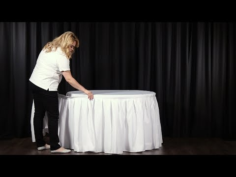 How to Attach a Table Skirt to Your Table