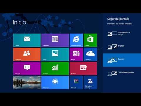 Windows 8 Tips Trucos Secretos  - 22 Usar Dos Pantallas, Interfaz metro y el Escritorio