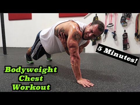 Intense 5 Minute At Home Chest Workout #2