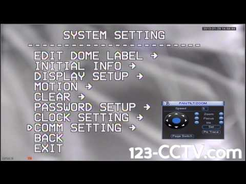 Configuring Multiple PTZ 9000's to one DVR 123CCTV