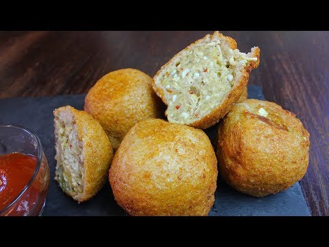 STUFFED BREAD CHICKEN BALLS *COOK WITH FAIZA*