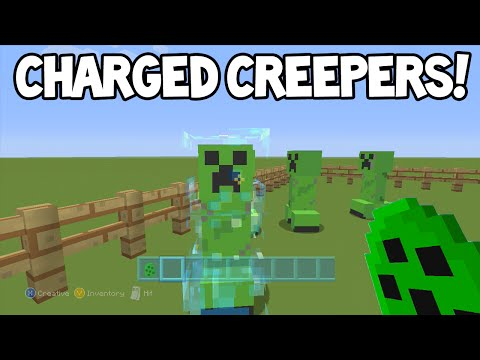 Minecraft (Xbox360/PS3) - TU26 Update! - Super Charged Creepers - Tutorial