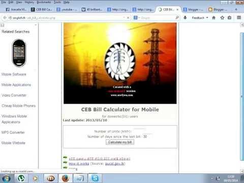 CEB Bill Calculator