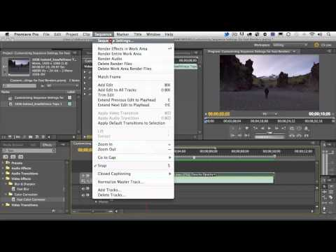 Adobe Premiere Pro CS5.5 Customizing Sequence Settings for Fast Renders