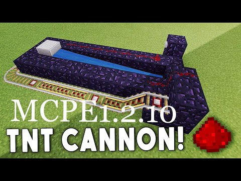 MCPE TUTORIAL (1.2.10) - BEST TNT CANNON (BETTER TOGETHER)