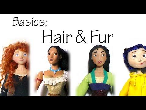Basics; The Hair/Fur I Use For My Polymer Clay Dolls & Animals