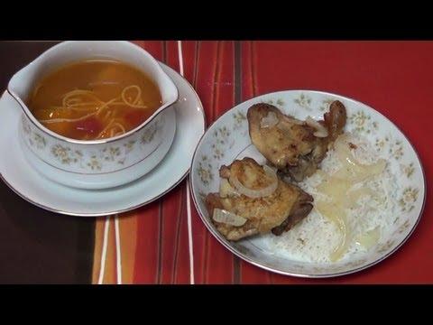 Sopa de Pollo a la Cubana