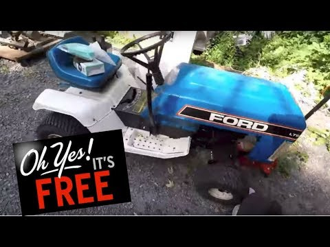 FREE Ford lawn tractor that works! Shout-outs for the boys & LOTS of scrapping!