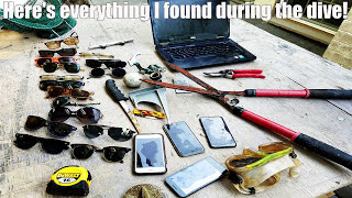 Underwater treasure hunting in Seattle, Washington! iPhones, laptops, golf cart, knives and more!!