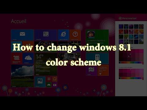change windows 8.1 theme colors