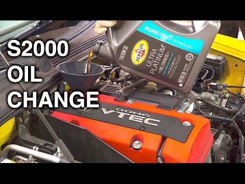 How To Change Your Engine Oil - Honda S2000
