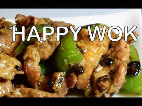 湖南豬肉黑豆 Hunanese Stir Fry Pork with green bell peppers in Black Beans Sauce