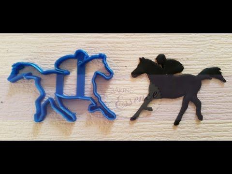 Horse and Jockey fondant cutter tutorial