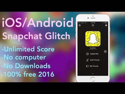 SNAPCHAT SCORE GLITCH [No Jailbreak] (iOS/Android) Tutorial