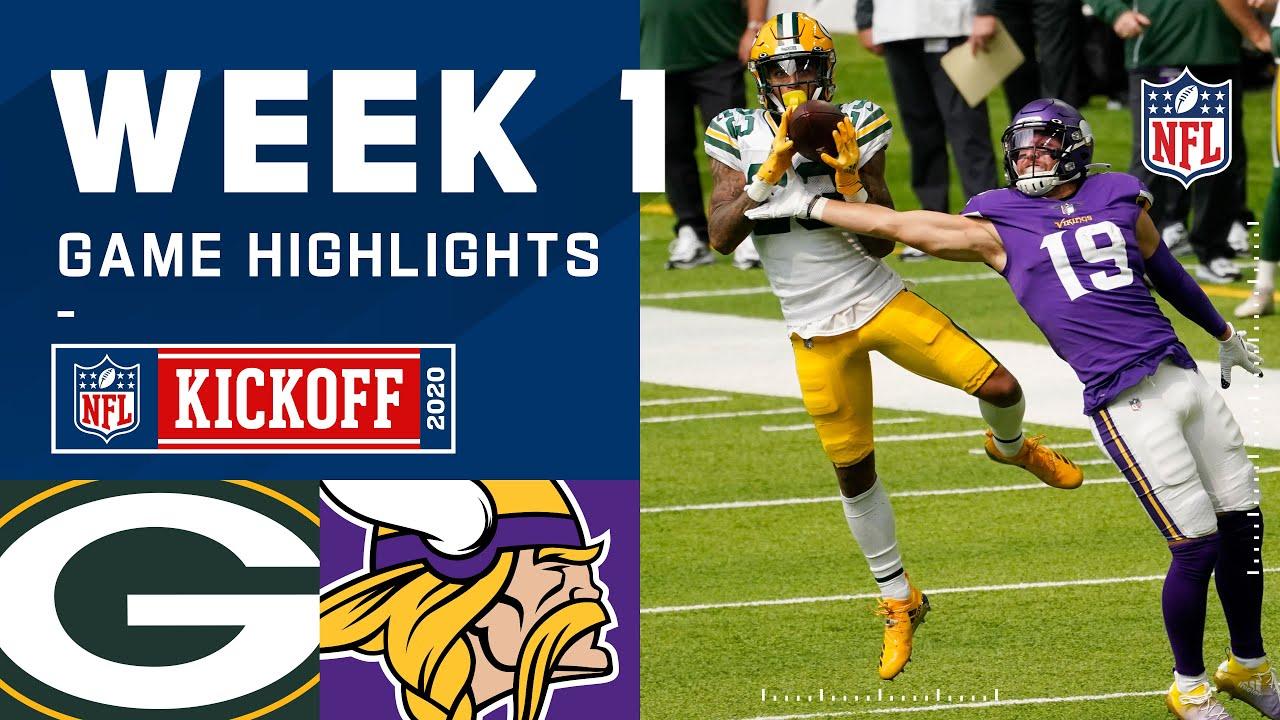 Packers vs. Vikings Week 1 Highlights   NFL 2020