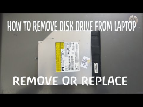how to remove DVD drive from laptop  hp pavilion g6 | Replace Optical Drive | remove disk drive