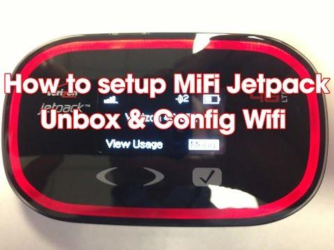 How to Setup Mifi Jetpack Verizon 4G Wifi hotspot