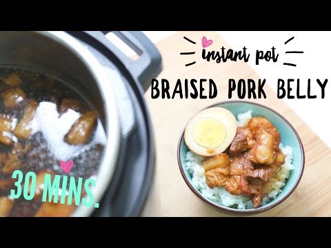 Instant Pot Recipe ♥ 30 min. Braised Pork Belly (滷肉飯)