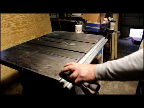 Cleaning the table saw last BS about sail boats