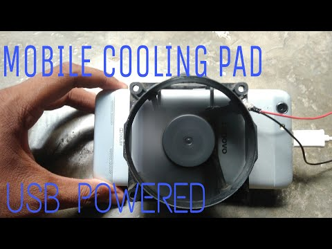 How to make Mobile cooling pad | USB powered