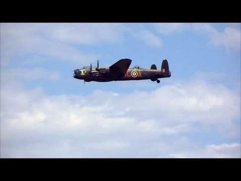 Lancaster Bomber - Battle of Britain Memorial Flight - Cleethorpes Airshow 2013