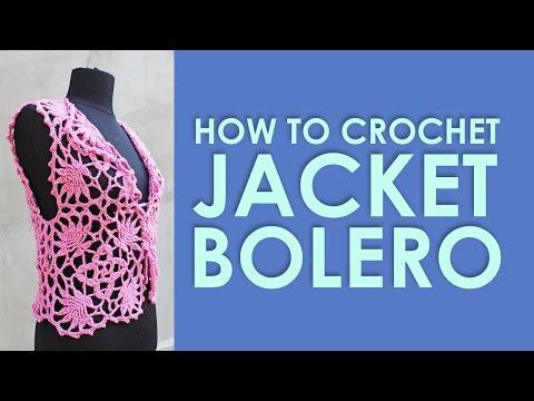 How to crochet Rose jacket bolero Lace square Crochet Tutorial Free Pattern by wwwika