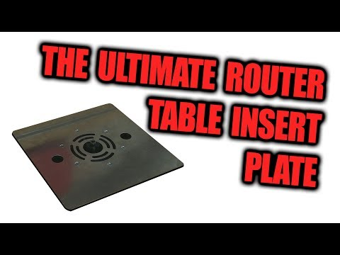 The Ultimate Router Table Insert Plate - Dust Collection Upgrade