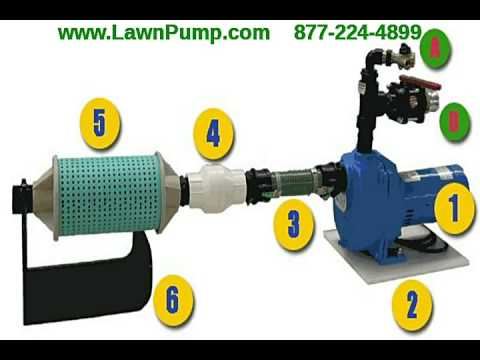 Lawn Irrigation Pump using lake or pond to  water your yard or garden