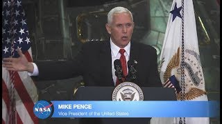 VP Pence Vows US To Put Man On Mars - Full Speech at NASA HQ