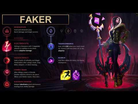 SKT Faker Build LeBlanc - New Runes Season 8 solo vs Kassadin (League of Legends Guide)