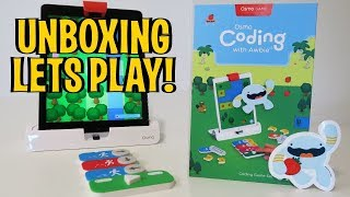 UNBOXING & LETS PLAY! - OSMO GAME: Coding Awbie! (FULL REVIEW!)