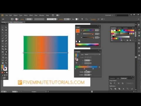 Adobe Illustrator CS6 Gradient tool and Gradient Palette