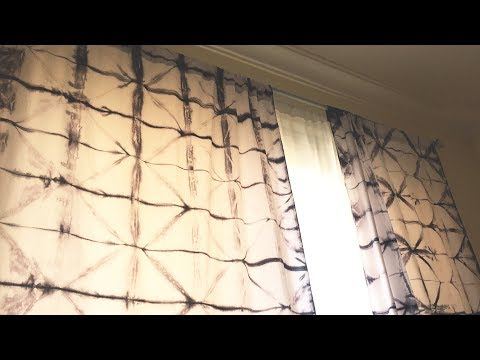 HOW TO MAKE TIE AND DYE CURTAINS