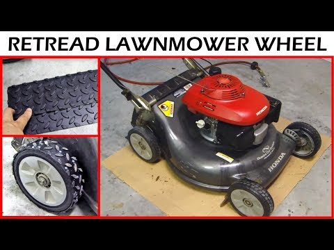 How to Retread the Honda Lawnmower Wheel