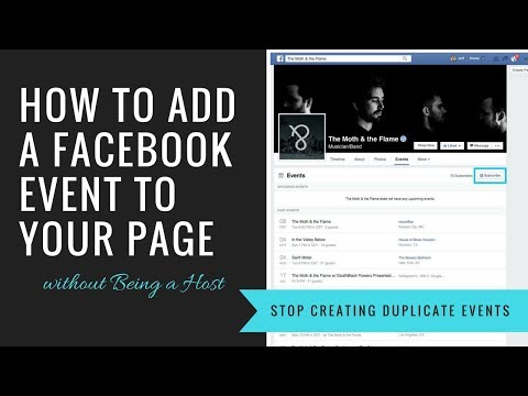 How to Add a Facebook Event to Your Page without Being a Host