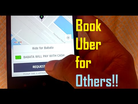 How To Book a Cab for Others Using Your  Uber Account !!