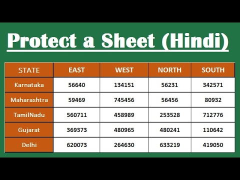 How to Password Protect and Unprotect a Worksheet in Excel (2007,2010,2013,2016) Hindi