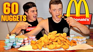 Challenging My Brother To Eat 60 McDonald's Chicken Nuggets...