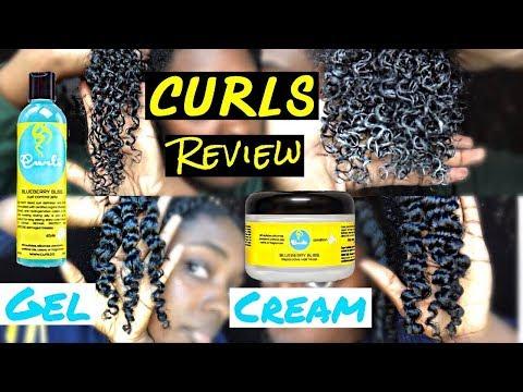 CURLS Blueberry Bliss Review: GEL vs CREAM | alexuscrown