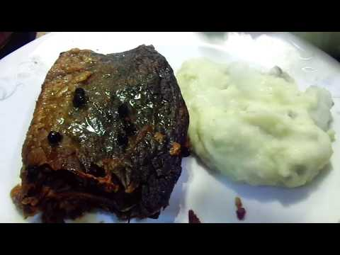 Oven Baked Beef Brisket with Sour Cream Mashed Potatoes & Gravy