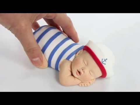 Lil Sculpture Sailor Baby Cake Topper Product Video