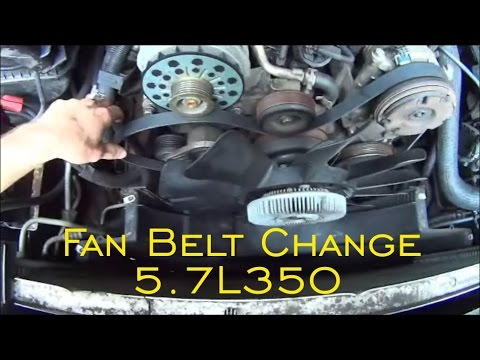 Fan Belt Replace 5.7L 350 , Escalade, Tahoe, Yukon, Avalanche, Sierra, Silverado and Belt Diagram