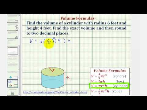 Ex: Volume of a Cylinder