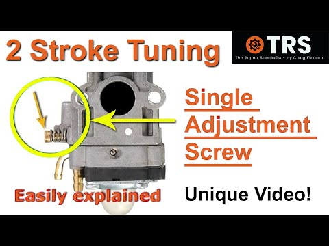 How a Two Stroke Cycle Carburetor Single Adjustment Screw Works
