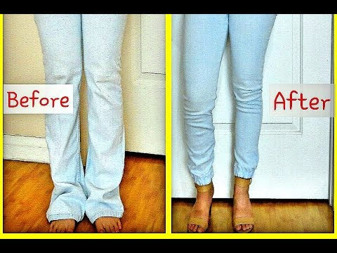 DIY CUFFED Jogger Pants/Jeans  (UPCYCLE)