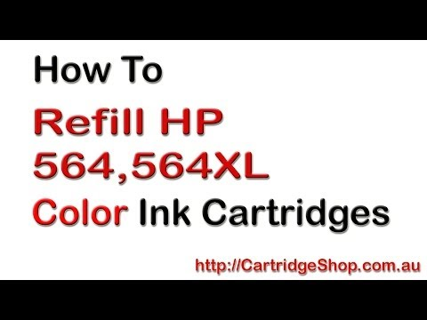 How To Refill HP 564 Colour Ink Cartridges