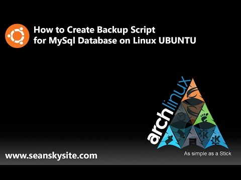 How to Create Backup script for MySql Database on Linux Ubuntu