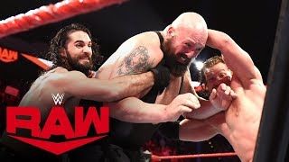 Big Show, Kevin Owens & Samoa Joe vs. Seth Rollins & AOP – Fist Fight: Raw, Jan. 13, 2020